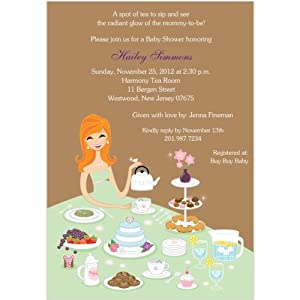 tea for two baby shower invitations set of 20 baby shower party