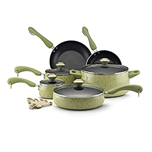 Sorry Paula Deen 15-piece cookware set, pear Speckle