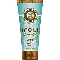 Maui Vera Organic Sunburn Relief & After Sun Moisturizer, 7 ounce