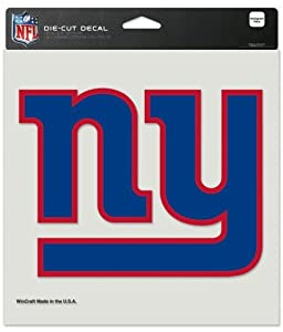 Buy New York Giants Die-Cut Decal - 8x8 Color by Caseys