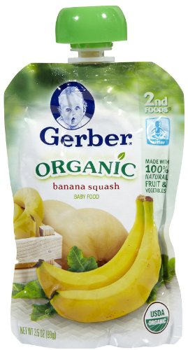 Gerber 2nd Foods Organic Pouch, Banana Squash, 3.5 oz
