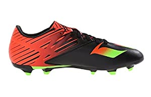 adidas Performance Men's Messi 15.3 Soccer Shoe,Black/Shock Green/Solar Red,7.5 M US