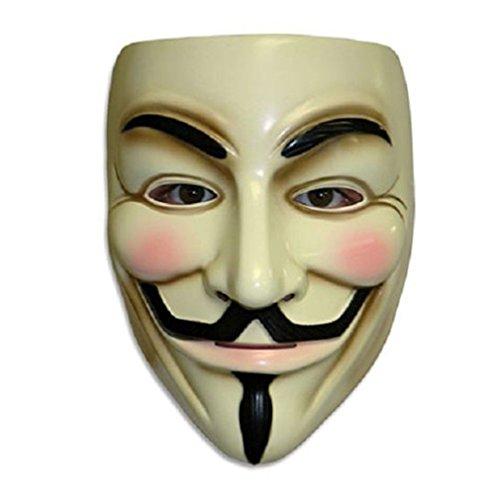 Volto di Halloween Maschere V per la Mascherina di Faida Guy Fawkes Anonimo Giallo VSOAIR