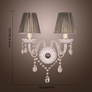 LUFKIN - Lampe Murale Cristal Abat-Jour - 2 slots š€ ampoule