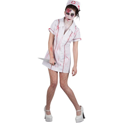 Halloween Zombie Killer Nurse Adult Ladies Fancy Dress Costume