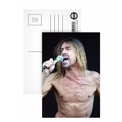 Iggy Pop - Postcard (Pack of 8) - 6x4 inch - Art247 Highest Quality - Standard Size - Pack Of 8