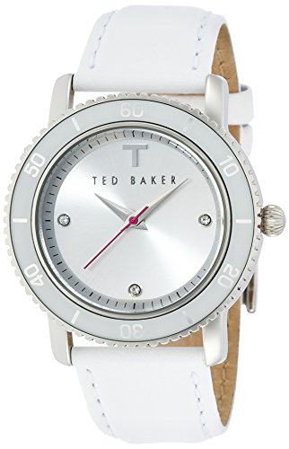 Ted Baker Three-Hand Leather - White Women's watch #TE2108