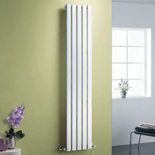 Boston Chrome Flat Panel Vertical Radiator - 1800x376mm