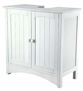 Meuble de lavabo Sydney en MDF laqué Blanc 60 x 60 x 30 cm