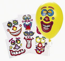 Balloon Face Stickers (Six different faces)