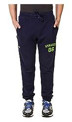 Spunk Men Cotton Track Pant (1000269465003_Blue_L)