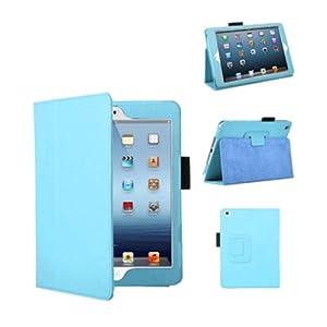 Bestwe Blue Ultra Slim Pu Leather Stand Cover Case For Ipad mini 3 / Ipad mini 2 / Ipad mini with Magnetic Auto Wake & Sleep Function