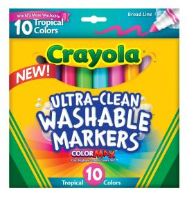 10 ct. Ultra-Clean Broad Line Markers Tropical
