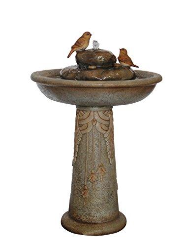 KelKay F1214106 Stone Perch Bird Bath Fountain
