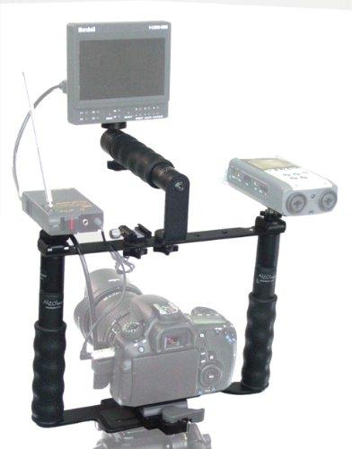 Alzo Transformer Dslr Rig Full Gear Kit- Camera Cage Bracket Incl. Bracket Handle, Ball Mount, Shoe Mount, Quick Release, Height Extenders