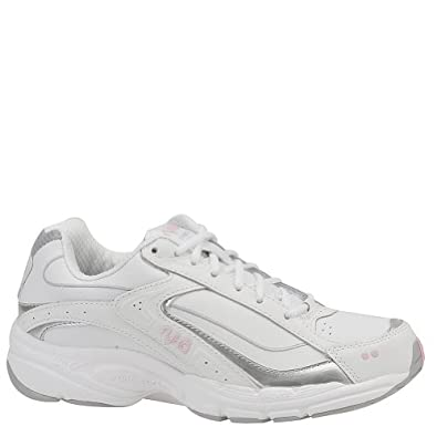 Ryka Women's Advance Walking Shoe (6 C/D US, White-Silver-Pink)