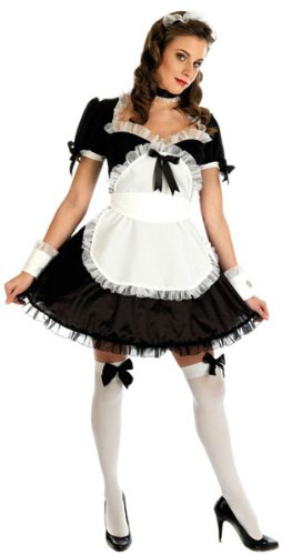 Ladies Sexy French Maid Fancy Dress Costume Size 8-10 Medium