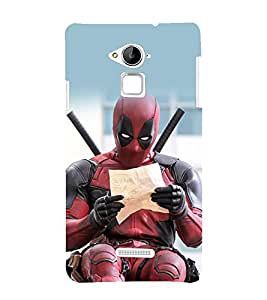 printtech Superhero Deadpoool Back Case Cover for Coolpad Note 3 Lite