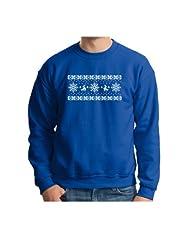 Reindeer Crewneck Sweatshirt Mistletoe Christmas