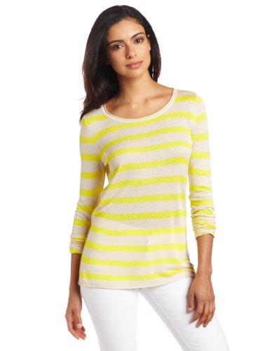 Vince Camuto Women's Long Sleeve Stripe Pullover Sweater