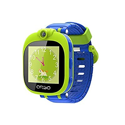 Orbo Kids Smartwatch with Rotating Camera, Bluetooth Phone Pairing, Games, Timer, Alarm Clock, Pedometer & Much More - Green by Orbo