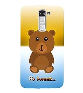 Teddy Bear 3D Hard Polycarbonate Designer Back Case Cover for LG K10 4G Dual