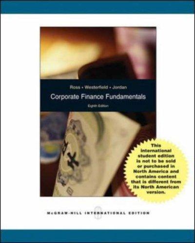 corporate finance ross westerfield jaffe jordan third edition