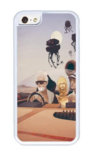 Apple Iphone 5C Case,WENJORS Cute Fear and Loathing on Tatooine Soft Case Protective Shell Cell Phone Cover For Apple Iphone 5C - TPU White