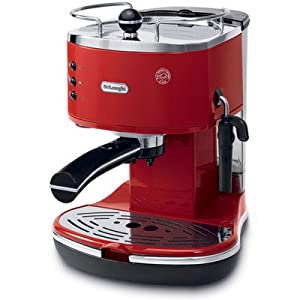 Pump Espresso Maker Color: Red by Delonghi