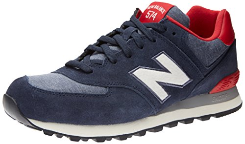 New Balance Men'S Ml574 Pennant Pack Running Shoe,Navy/Red,18 D Us front-972178