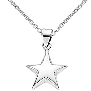 Childrens Sterling Silver Star Pendant and 14