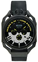 Welder by U-boat K36 Chronograph Black Ion-Plated Steel Mens Watch Rubber Strap K36-2402 from Welder