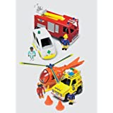 Fireman Sam Emergency Vehicle Play Set with Figuresby Born To Play