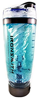 Electric Protein Blender and Mixer Bottle by Ironsmith Sports / USB Rechargeable Protein Vortex Mixer Cup / 600 Milliliter, 20 Ounce, BPA-Free, Leak-Proof Design for Smooth Mixing
