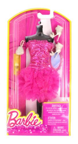 Barbie Dress Up Pink Ruffle Dress with Fashion Accessories - 1