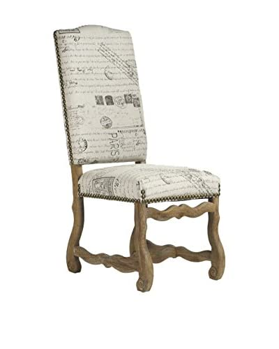 Zentique Delmont Dining Chair, Natural/Limed Grey