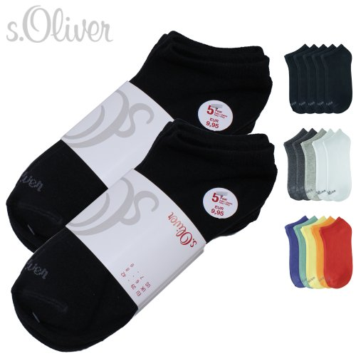 10-Paar-sOliver-Sneaker-Socken