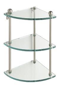 "Allied Brass PR-6-ORB 22"" Triple Glass Shelf with TB Oil Rubbed Bronze"