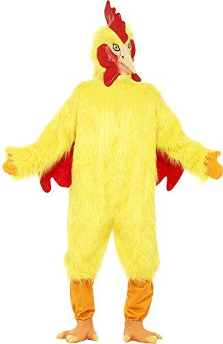 Huhn Kostüm mit Fellkörper Maske und Füßen Deluxe, One Size