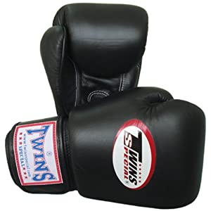 Buy Twins Special Muay Thai Boxing Gloves BGVL-3 Black 8-10-12-14-16 Oz. by Twins Special