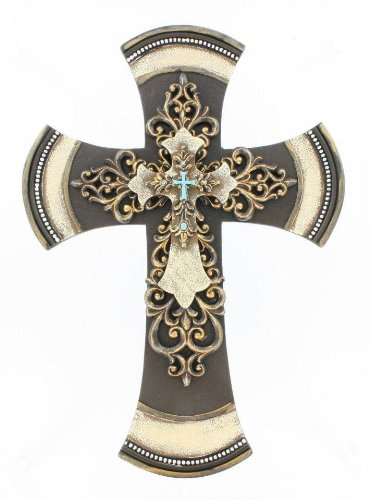 Decorative Tuscan Wall Cross 11 1/2