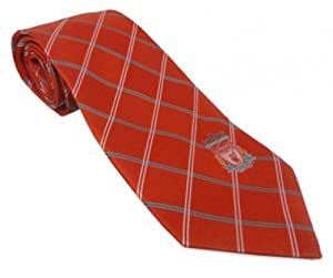 Liverpool FC Red & Green Check Tie from Liverpool FC