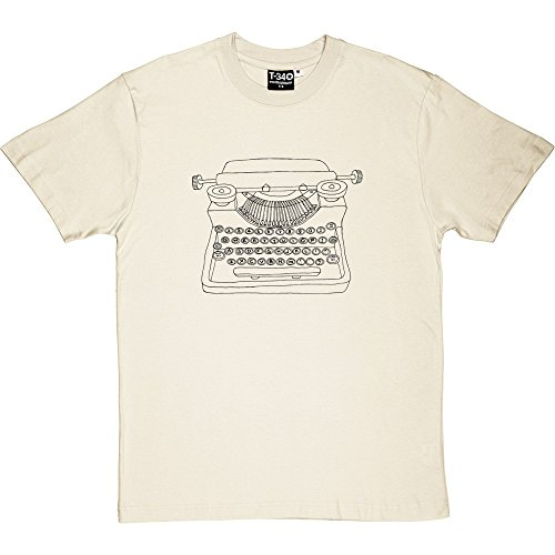 Typewriter T-Shirt Natural Men's T-Shirt
