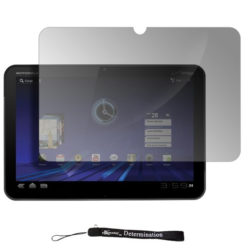 eBigValue - Clear Durable Clear Screen Protector with Lint Cleaning Cloth / LCD Protection for Motorola Xoom Android Tablet ( Verizon Wi-Fi )