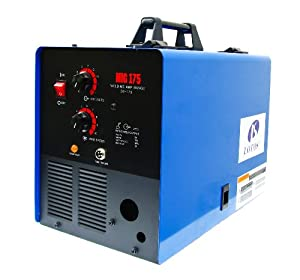 LOTOS MIG175 175A Mig Welder with FREE Spool Gun, Mask, Aluminum welding wires, Solid wires, Argon Regulator, standard MIG gun and 3 years warranty by Lotos