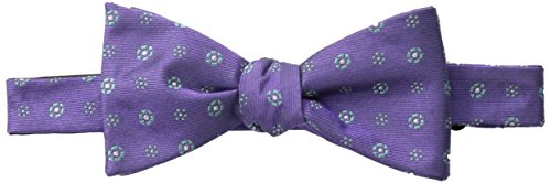 Ben Sherman Men's Heartland Medallion Bow Tie, Purple, One Size