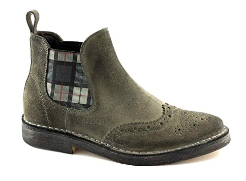 CAFè NOIR TM502 grigio scarpe uomo stivaletti beatles inglese 45
