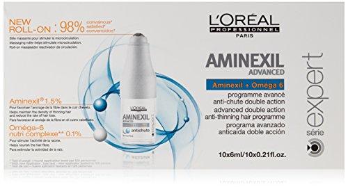 L'Oréal Professionnel Programme Avancé Anti-chute Double Action Aminexil Advanced à l'Oméga-6 Nutri Complexe et Aminexil Série Expert 10x6ml