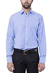 Formal Shirt Dodger Blue Color Slim Fit for Men by Tag & Trend