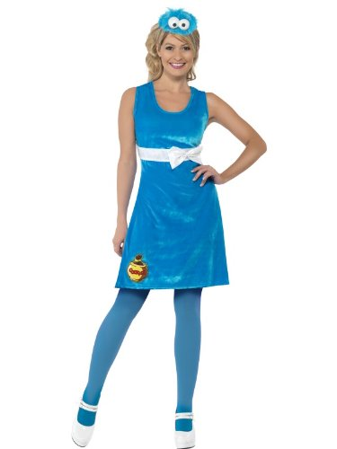 Abito Cookie Monster - Sesame Street - Adulto Costumi